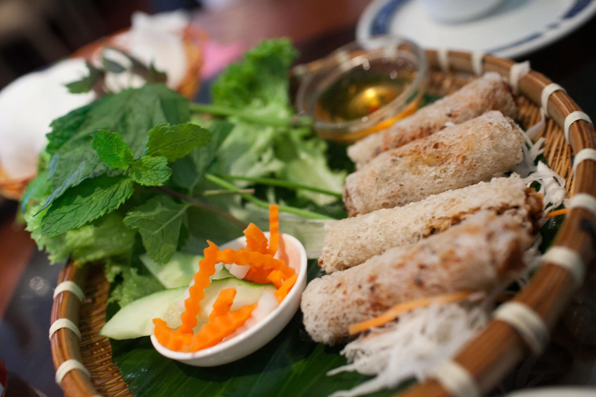 Spring Rolls at Mien Tay in London, England