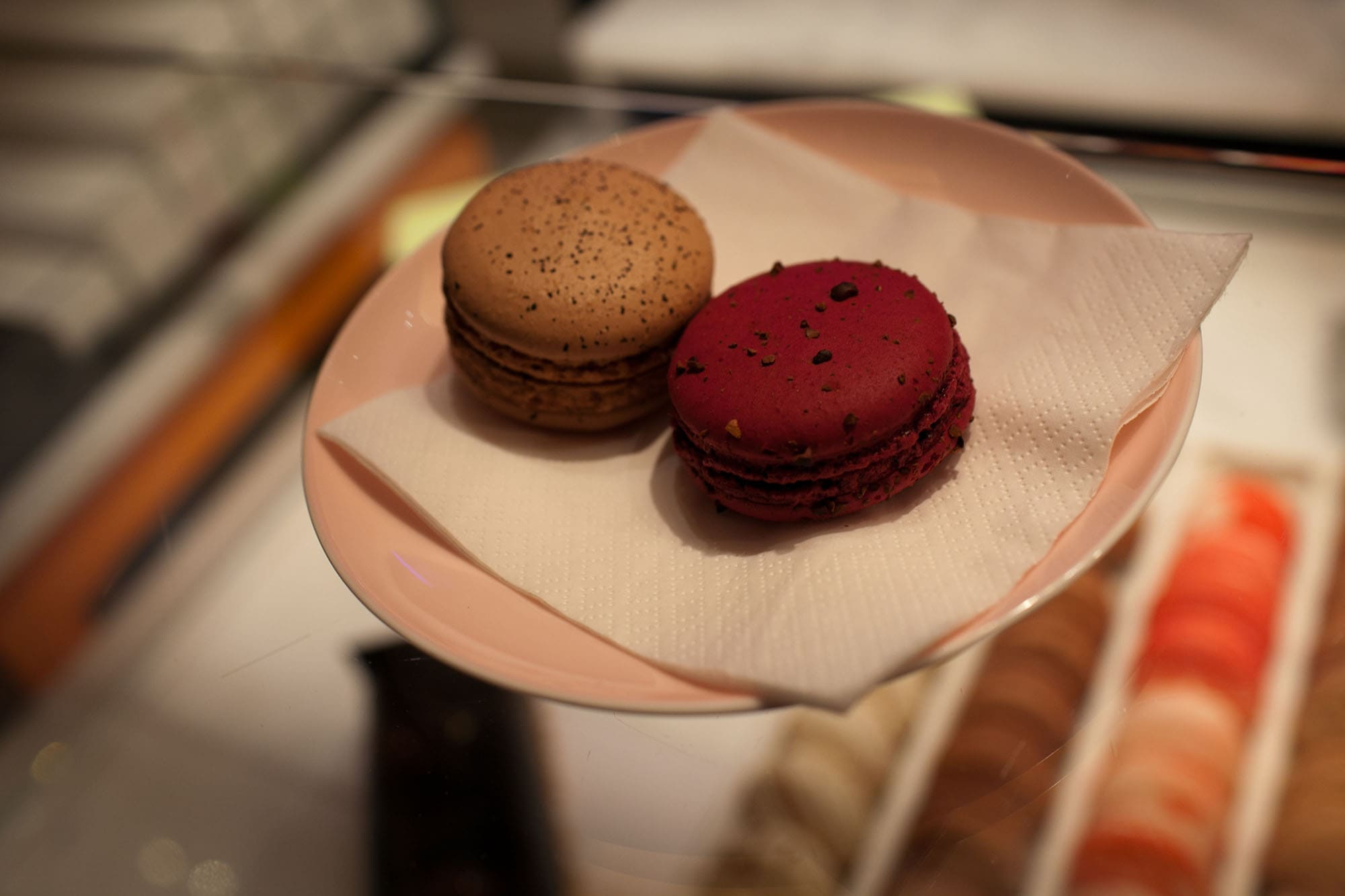 Earl Grey macaron at Yauatcha in Soho, London, England