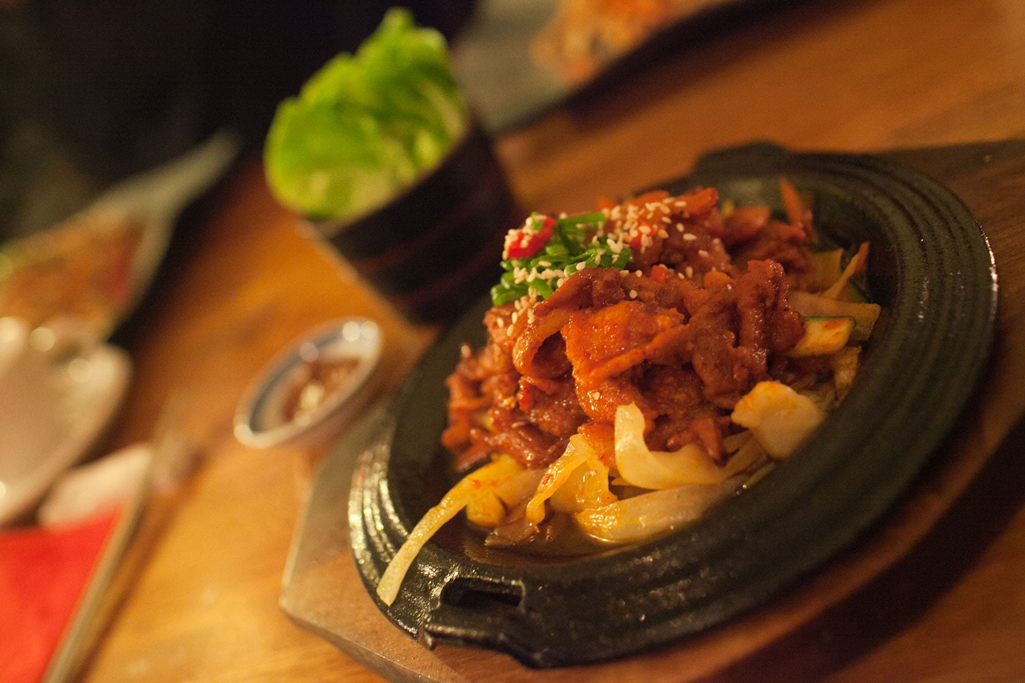 Korean Spicy Pork BBQ at Naru in London, England