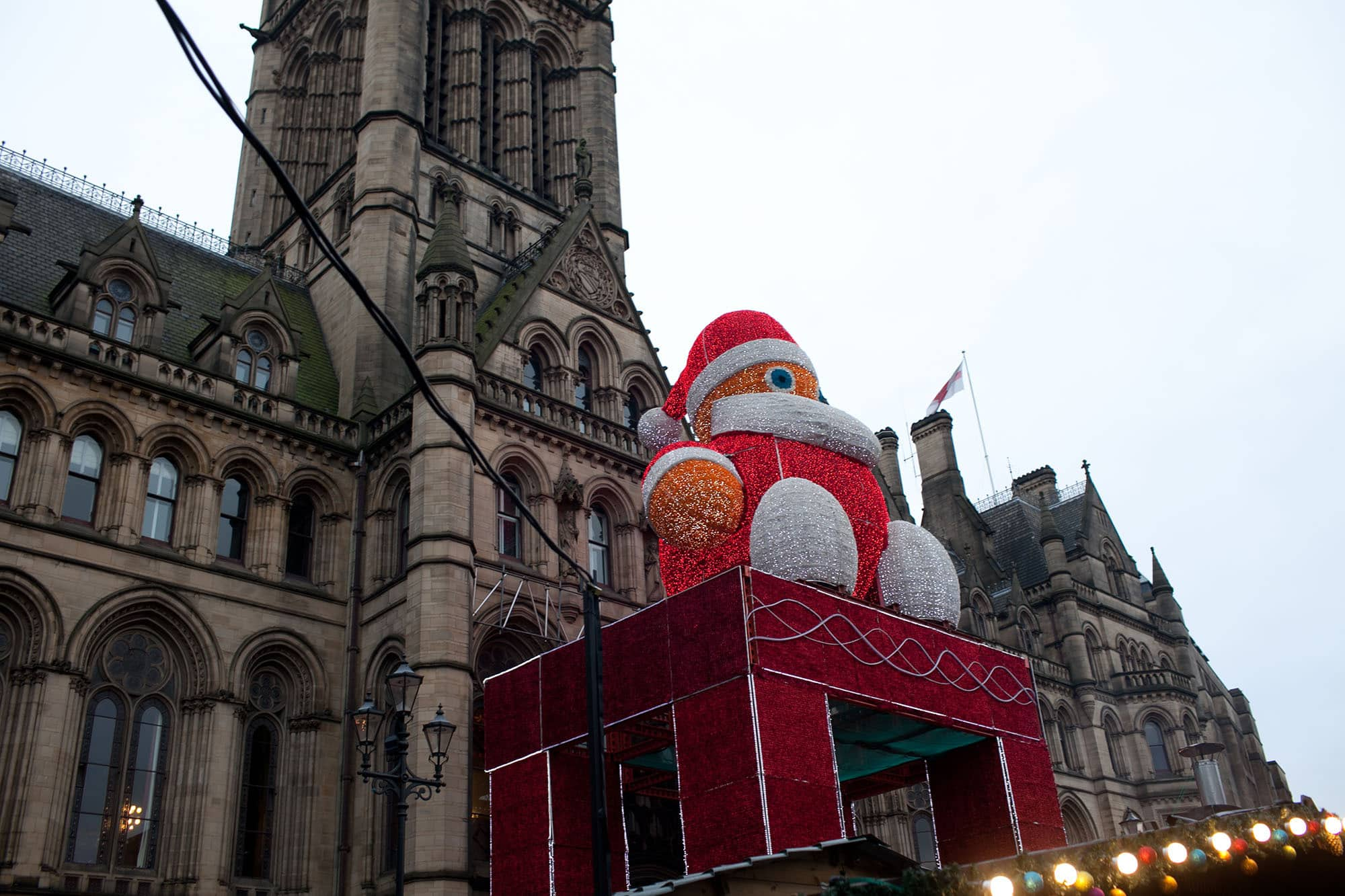Christmas market in Manchester, England.