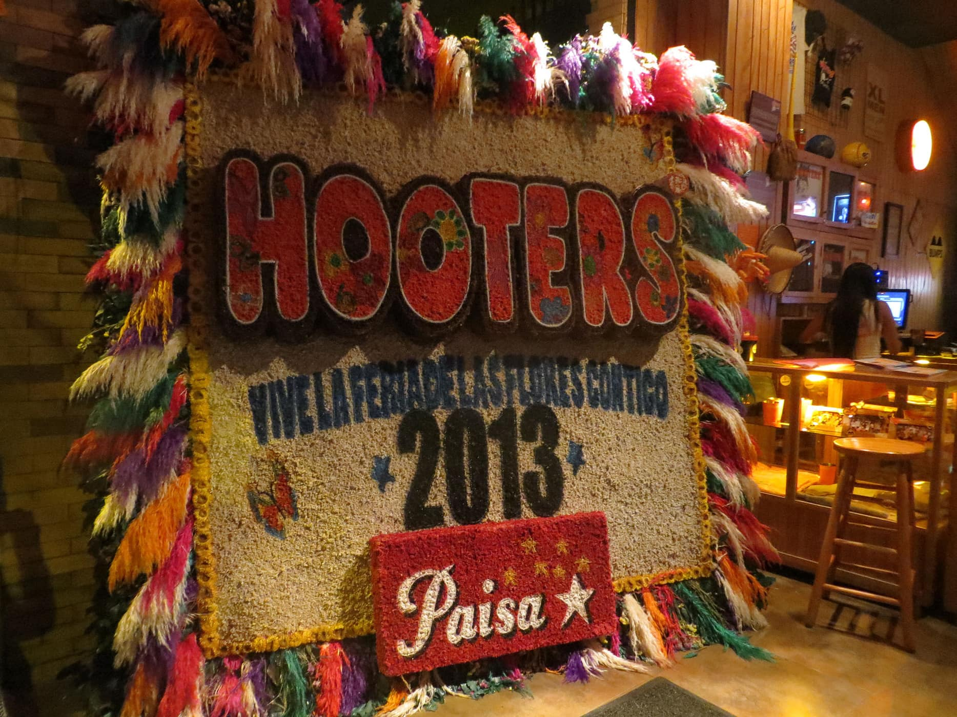 Hooters in Medellin, Colombia