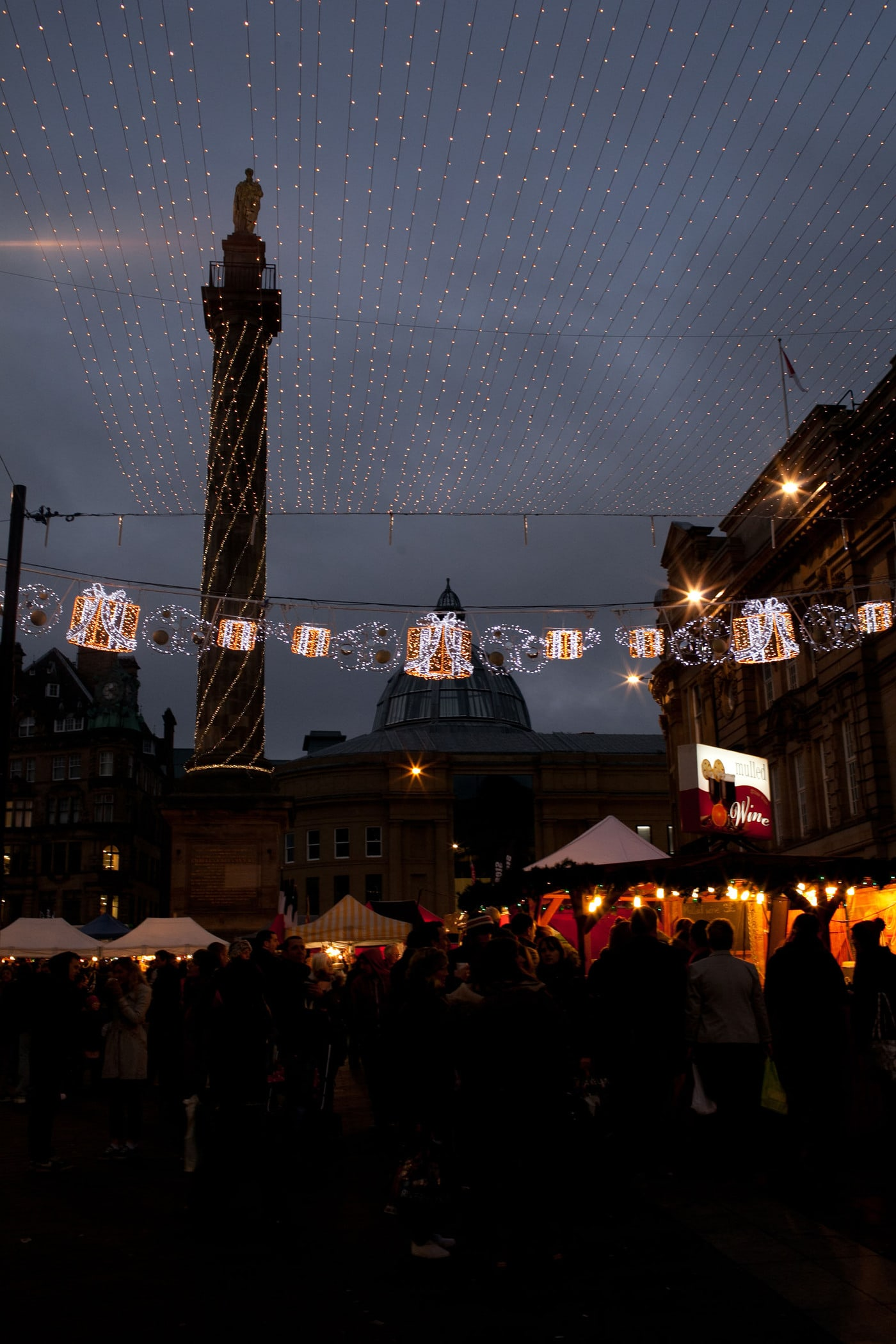 Christmas market in Newcastle, England
