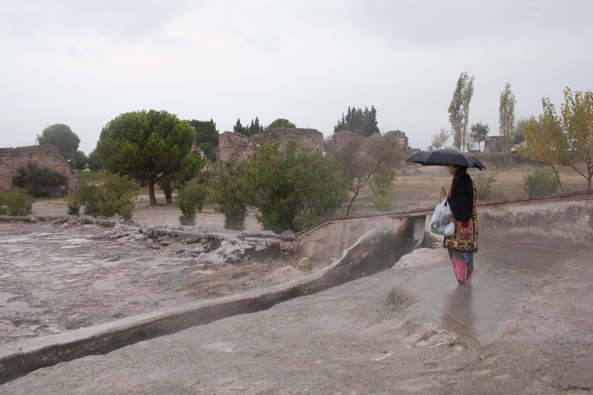 Travertines in Pamukkale, Turkey