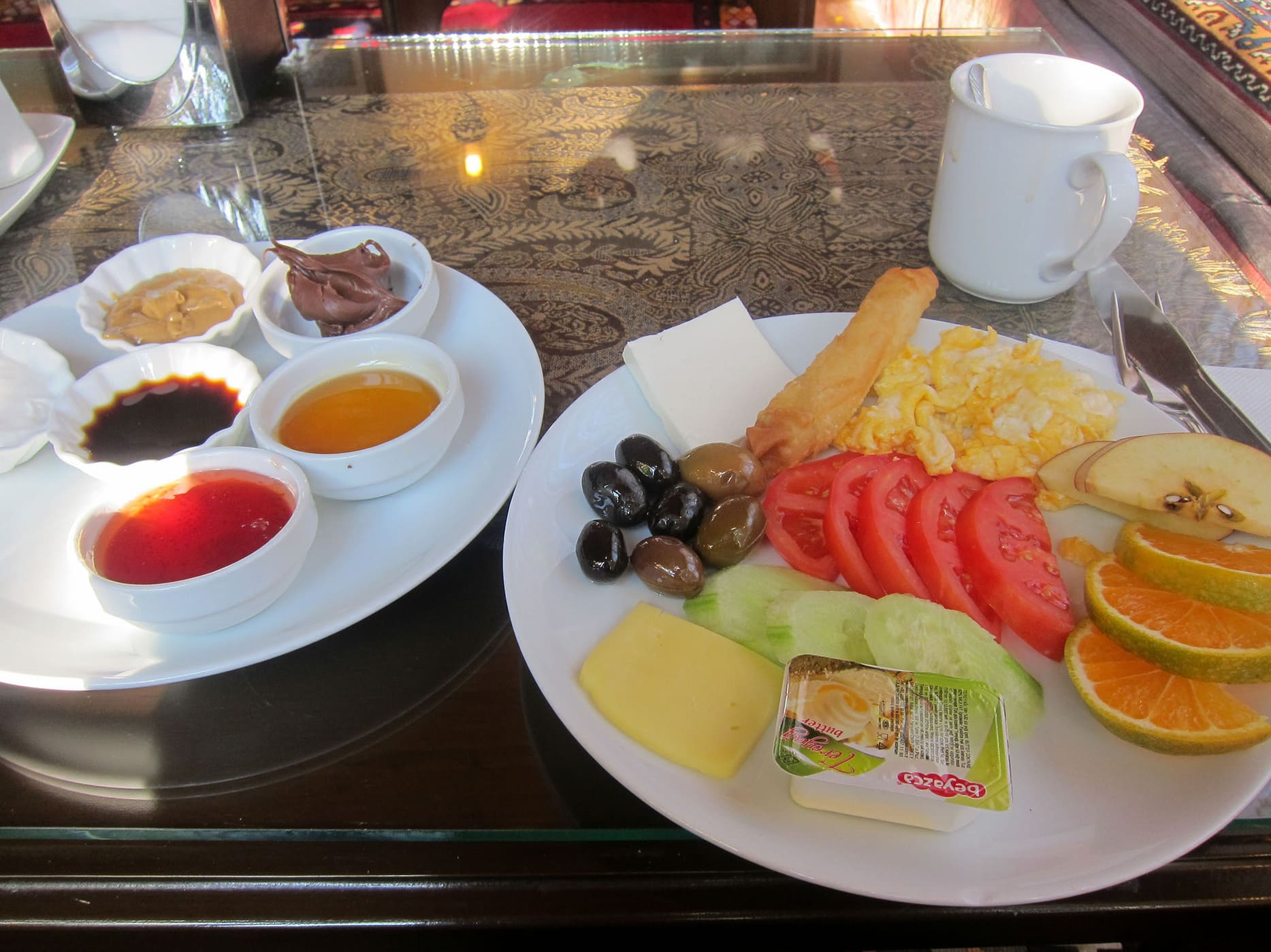 Breakfast in Pamukkale, Turkey