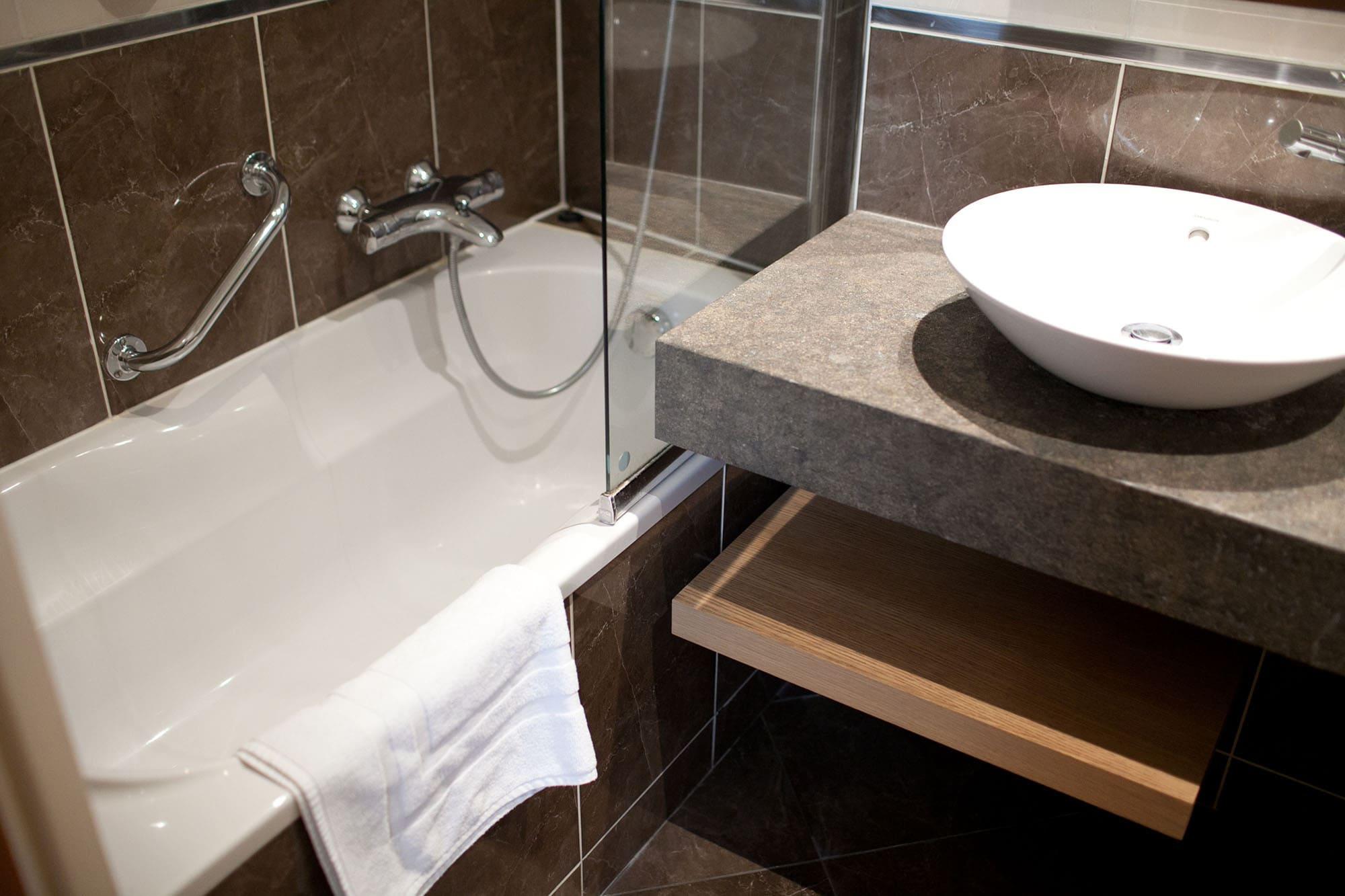 Bathtub in my Paris hotel room.