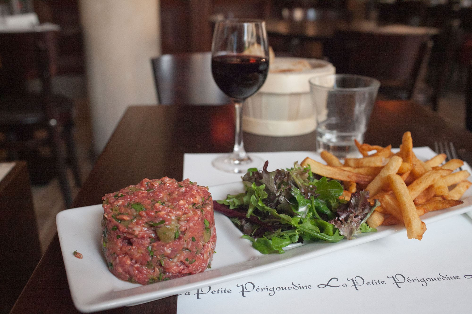 Beef tartar in Paris