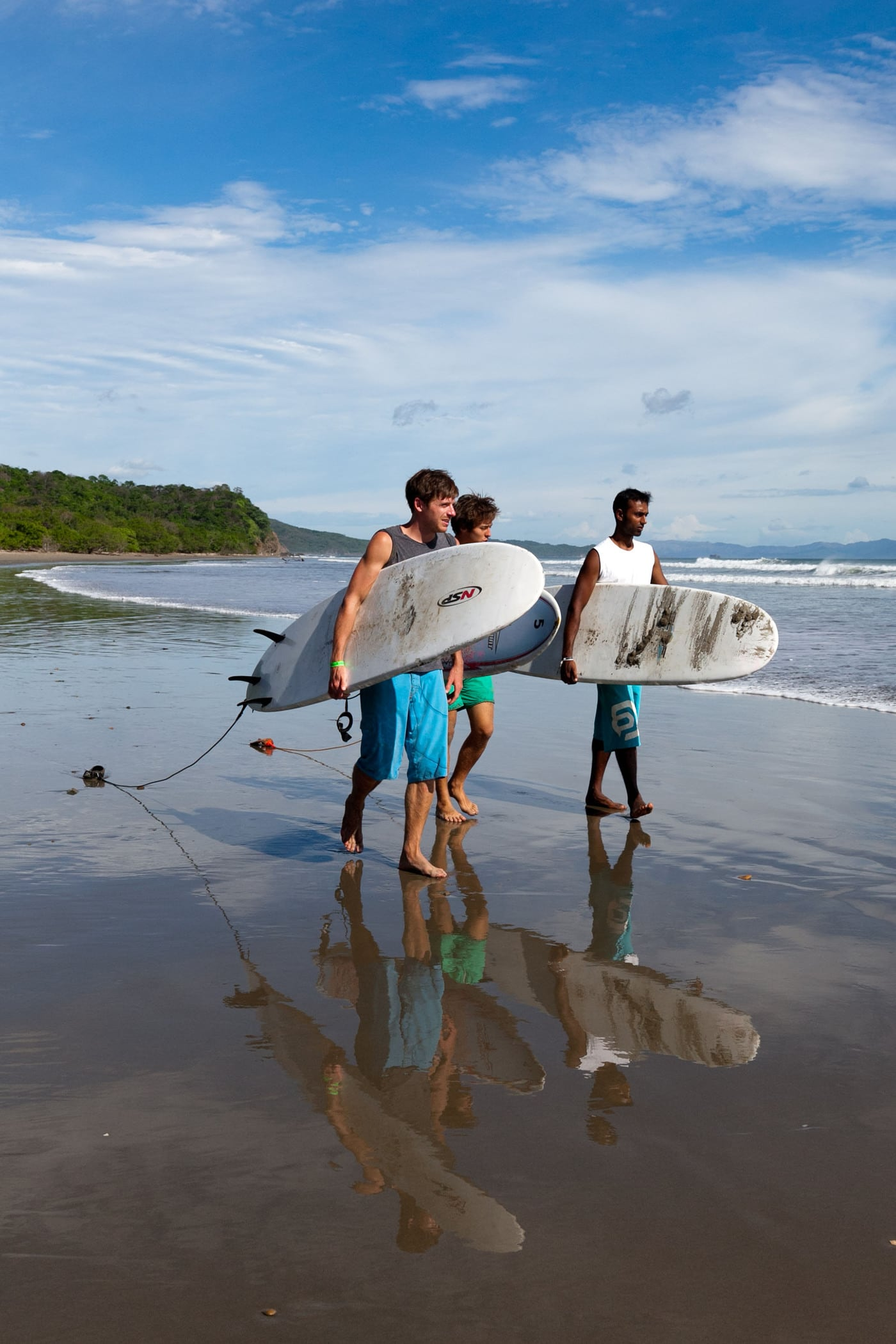 Surfing at Playa Hermosa in Nicaragua