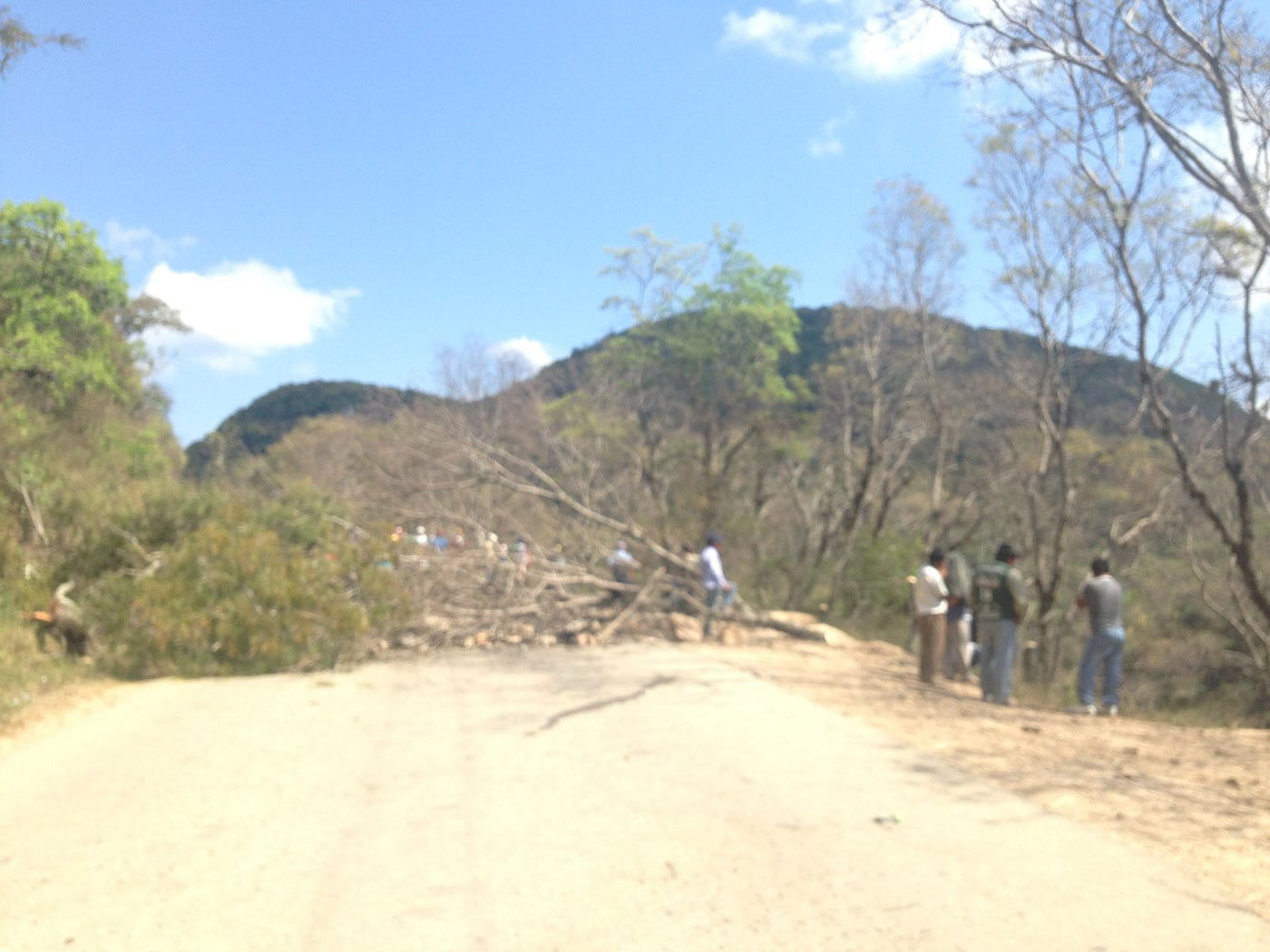 Road block in Samaipata, Bolivia
