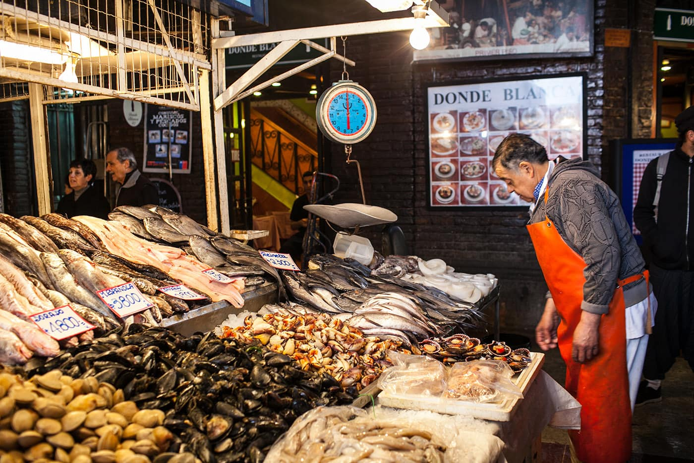 Central Market Fish market in Santiago, Chile