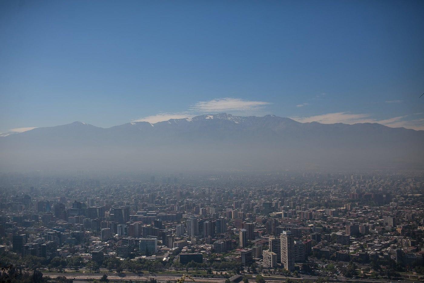 San Cristóbal Hill in Santiago, Chile