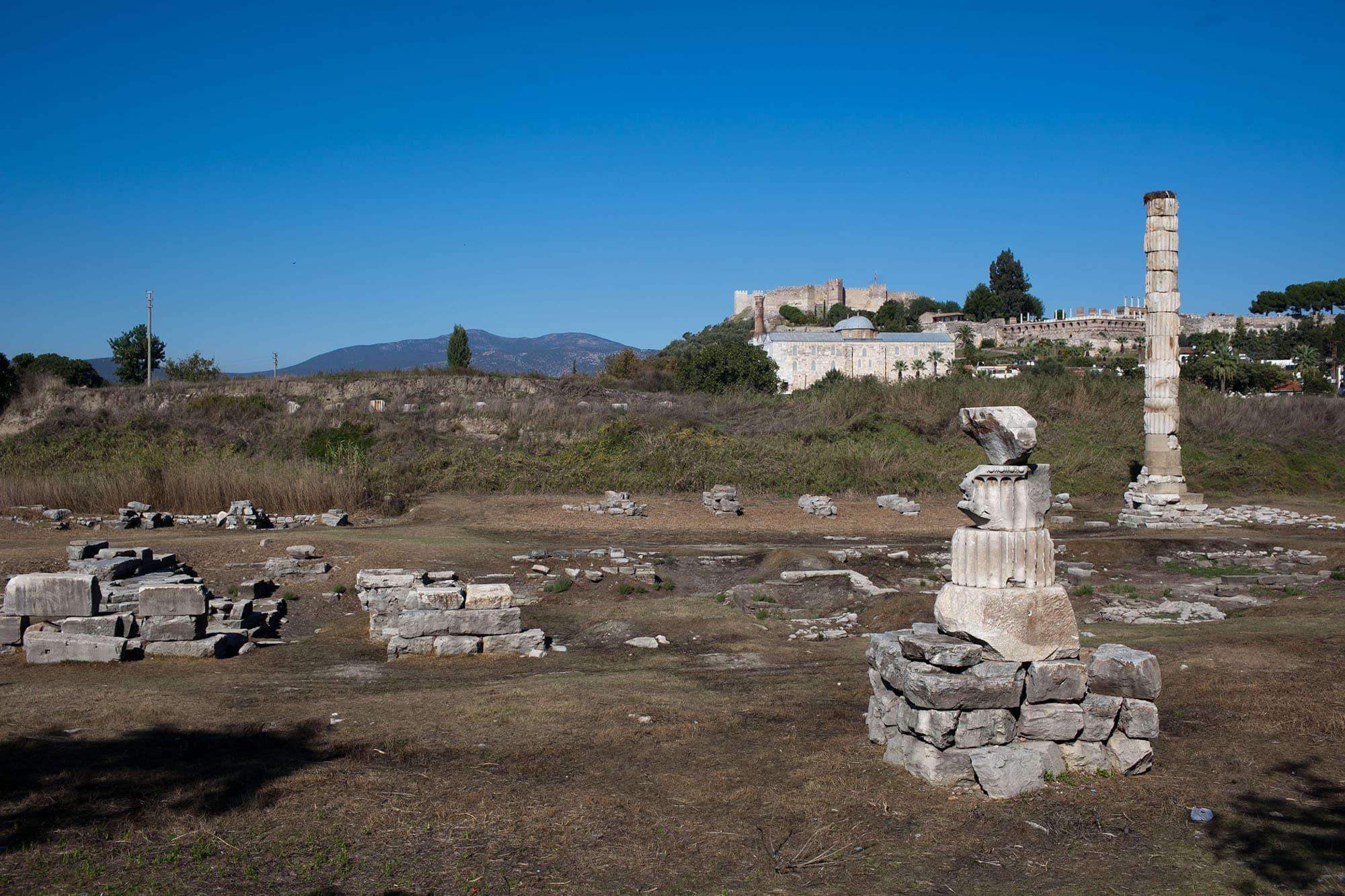 Temple of Artemis in Selcuk Turkey
