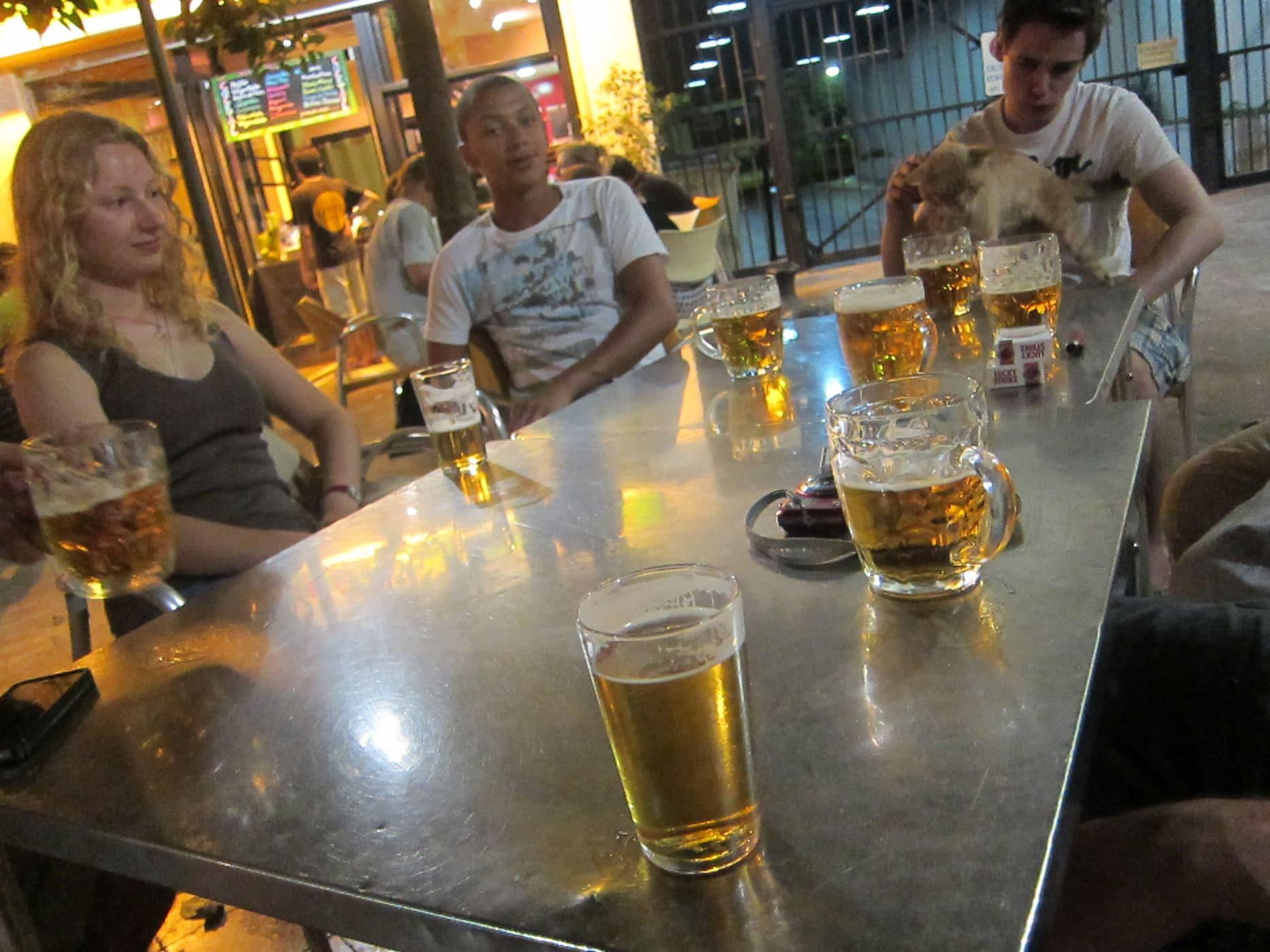 Getting beers in Sevilla, Spain