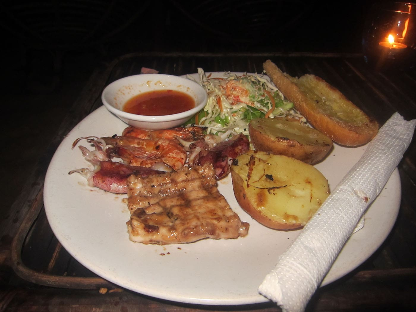 Seafood BBQ in Sihanoukville, Cambodia
