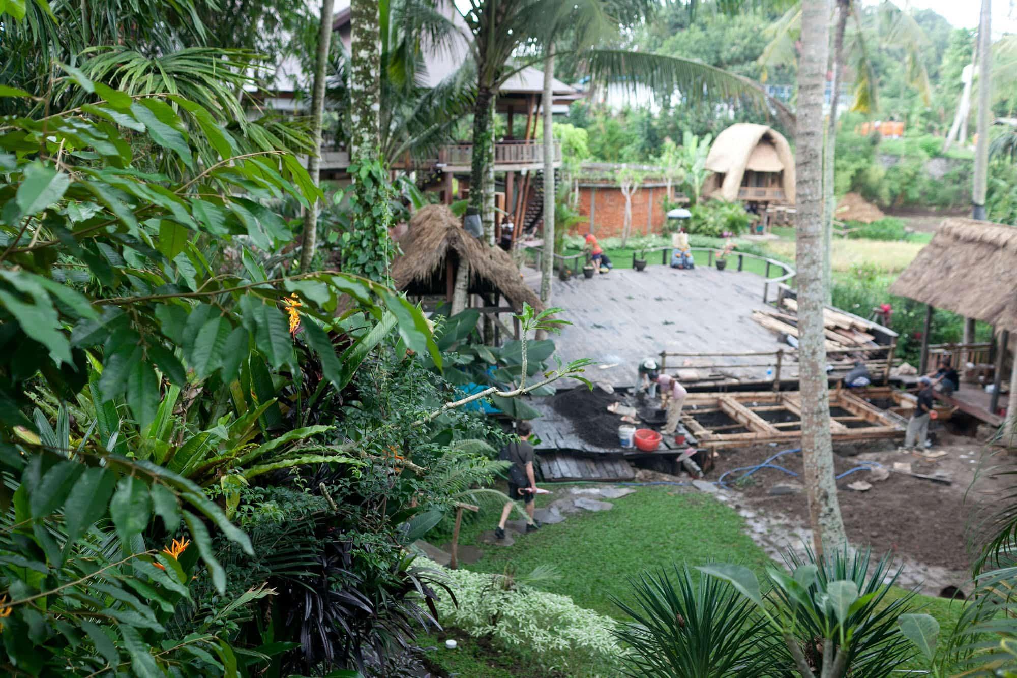 Intro to yoga class at yogabarn in Ubud, Bali, Indonesia.