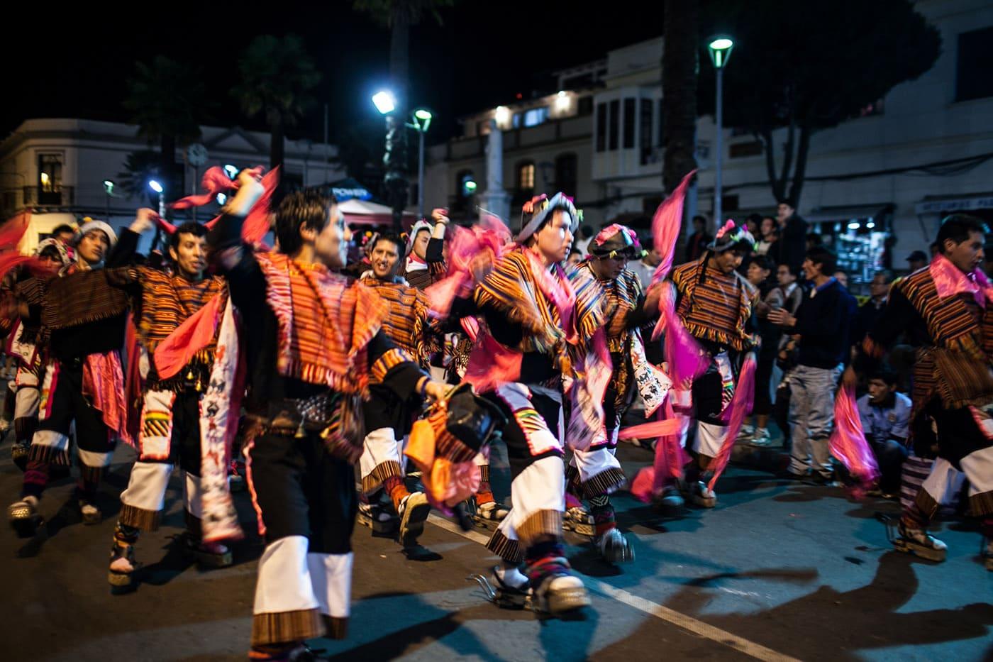 Virgen de Guadalupe parade in Sucre, Bolivia