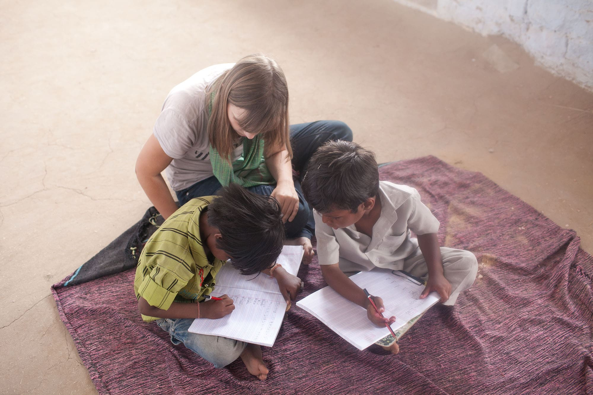 Volunteering at Sambhali Trust Empowerment Center in Setrawa, India.