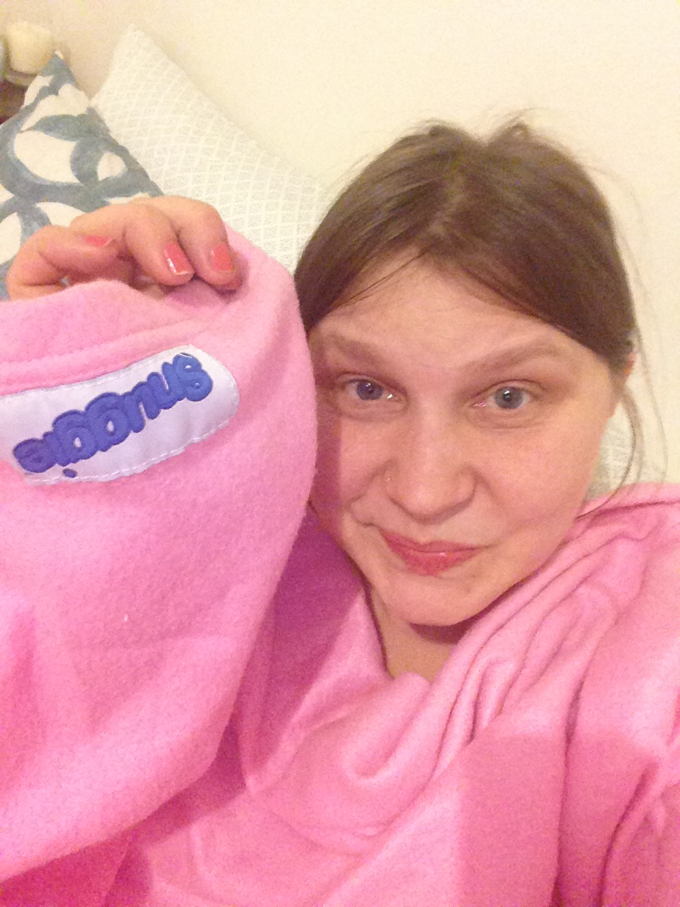 Me and my pink snuggie.